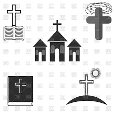 scene of the holy bible christian family religion vector clipart