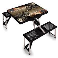 amazon com picnic time harley davidson portable folding table