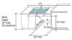 ada kitchen design ada kitchen sink requirements clever design kitchen dining