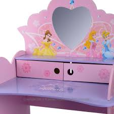 Disney Princess Vanity And Stool Disney Princess Wooden Vanity Desk And Stool With Mirror