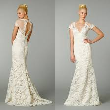 Vintage Lace Wedding Dress Deep V Neckline Vintage Lace Wedding Dress With Open Back