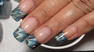 french tip water marble march 2013 7 diy nail art tutorial