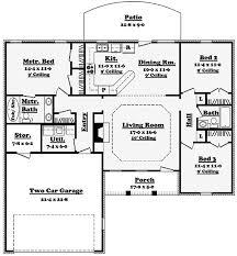 split floor plan ranch house plans with split bedrooms homepeek