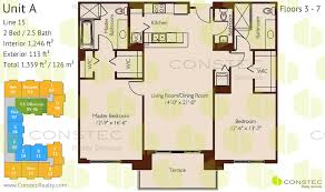 2 bedroom floorplans 100 andalusia floor plans