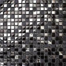 black glass tiles for kitchen backsplashes crackle mosaic silver plating glass tile backsplash