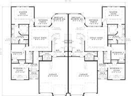 houseplans and more one level duplex craftsman style floor plans duplex plan 1261 b