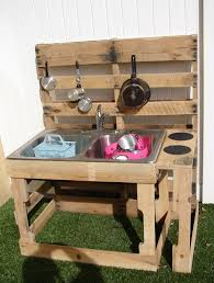 pallet outdoor kitchen bar yard sales playground and faucet