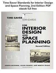 time design planner time saver standards for interior design and space planning 2nd edit