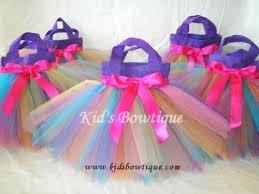 Birthday Favor Bags by Rainbow Birthday Favor Tutu Bags
