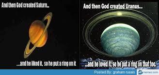 Saturn Meme - hubble spots auroras on uranus