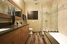 Rustic Bathroom Ideas Bathroom Wooden Varnished Cabinet Warm Color Rustic Bathroom