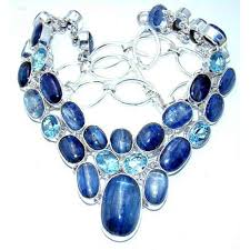 ebay necklace silver images Lyla sterling silver topaz necklace necklace with kyanite blue jpg
