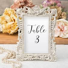 picture frame wedding favors ivory and gold picture frames for table numbers 4 x 6 size tea