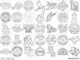 mlb logos coloring pages coloring pages download print