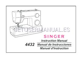 singer máquinas básicas 4432 heavy duty manual de instrucciones