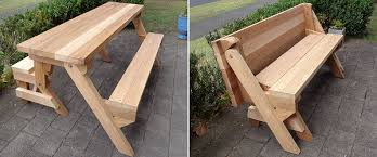 Plans For Building A Picnic Table With Separate Benches by Buildeazy Projects Folding Picnic Table Diy