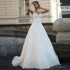 Cheap Online Wedding Dresses Aliexpress Com Buy 2017 Custom Made Applique Lace Wedding Dress