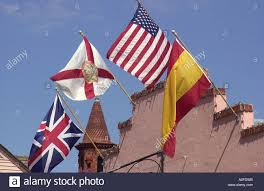 Florida Flag History Flags Of Great Britain Florida Us And Spain Fly Over Old Spanish