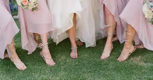 bridesmaid sandals bridesmaid sandals once wed