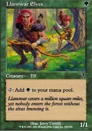 llanowar elves 7th edition magic the gathering gaming