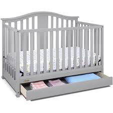 Convertible 4 In 1 Cribs Graco Solano 4 In 1 Convertible Crib With Drawer Pebble Gray