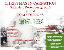 christmas in carnation celebration saturday december 3rd news