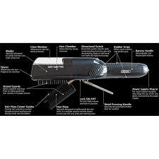 the hair grip split ender pro cordless split end hair trimmer black clippers