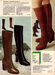 s boots knee high brown 1970s boots crinkle platform stretch boots more