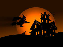 antique halloween flying witch background witch wallpaper wallpapersafari