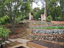 Sloping Backyard Landscaping Ideas Landscaping Ideas For Downward Sloping Backyard Cebuflight Com