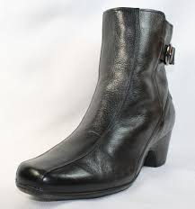 clarks womens boots size 12 clarks ankle boots size 12 m dara ii black leather fashion style