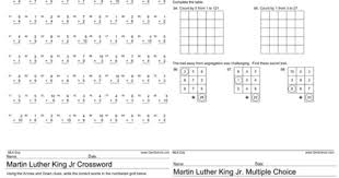 free worksheets with martin luther king jr day theme worksheets