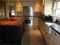 kitchens white kitchen island with butcher block top and