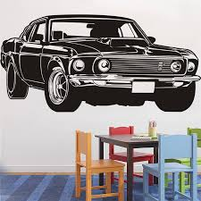 compare prices on american muscle decals online shopping buy low classic shelby gt ford mustang muscle racing car wall decal art home decor vinyl wall sticker