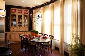 vibrant transitional family home kitchen dining room robeson