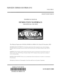 55966158 navsea sw060 aa mma 010 vol 1 demolition material usa