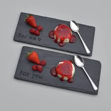 engraved platters boxed set of engraved slate serving platters slate and box