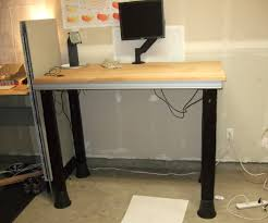 Electric Sit To Stand Desk by Quick Electric Sit To Stand Desk 7 Steps With Pictures