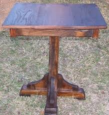 Oak Bistro Table Reclaimed Antique Oak Pub Table Rustic Restaurant Furniture