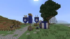 Minecraft Flag Minecraft Medieval Banners Flags And Roads Part 110 Season 1