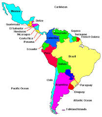 south american countries map my