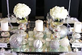 New Years Eve Table Decorations Black U0026 White U0026 Silver Holiday Table Celebrations At Home