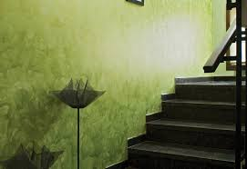 wandgestaltung in grün wandgestaltung mit spachteltechnik für ein effektvolles interieur