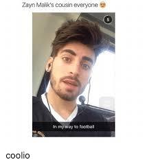 Zayn Malik Memes - zayn malik s cousin everyone in my way to football coolio coolio