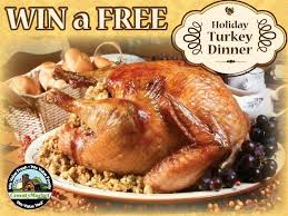 turkey dinner giveaway again you could win a free