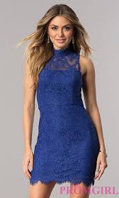 junior size royal blue lace party dress promgirl