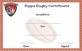 25 masterpiece rugby certificates templates free download in
