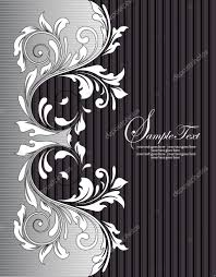 Black And White Invitation Cards Black And White Invitation Card U2014 Stock Vector Imagepluss 7479432