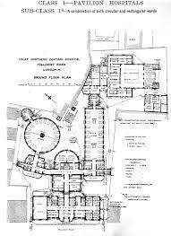 Floor Plan Hospital File Plan Of Great Northern Central Hospital London 1893