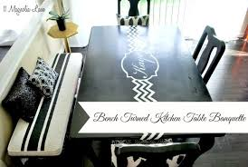 Table Banquette Chalk Painted Bench Turned Kitchen Table Banquette 11 Magnolia Lane